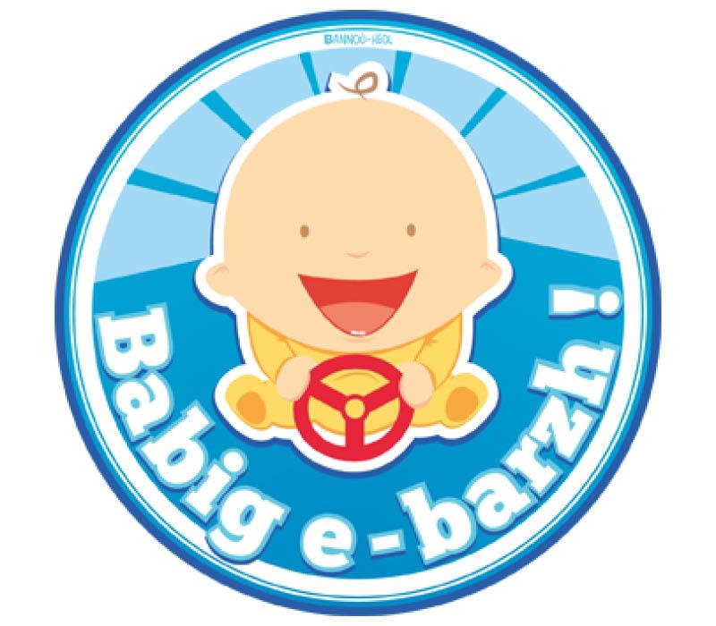 autocollant breton bébé à bord