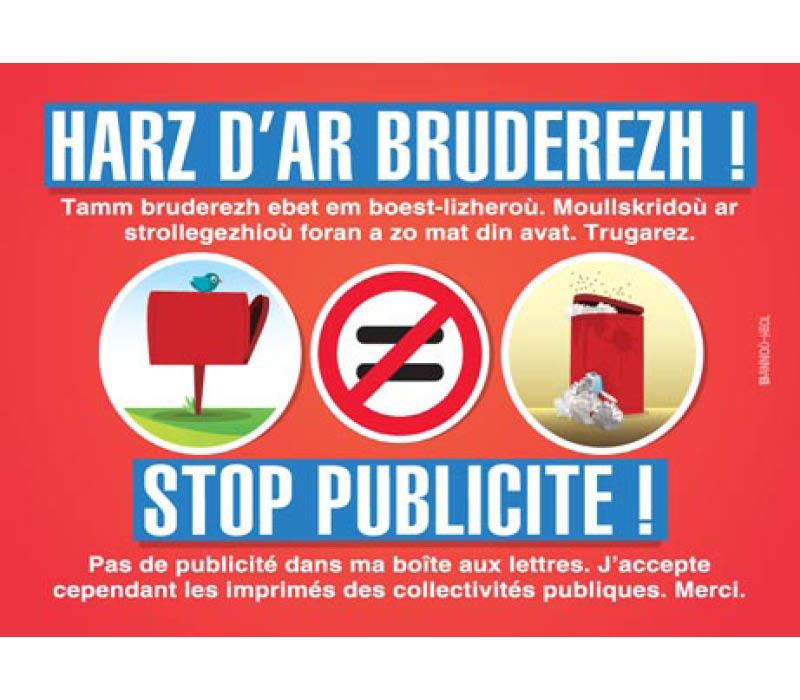 autocollant breton stop pub harz d'ar bruderezh