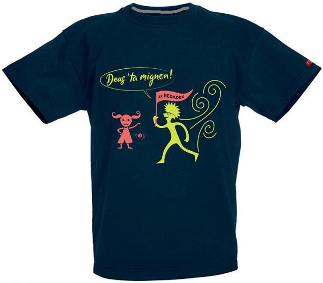 t-shirt bugale glas